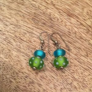 Jewelry - Frosted Glass beaded earrings
